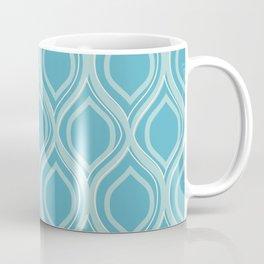 Abstract Turquoise Coffee Mug