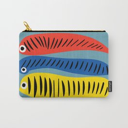 Fishes Red Blue and Yellow illustration for Kids Carry-All Pouch