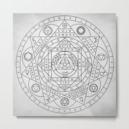 Hermetic Principles Metal Print