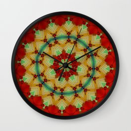 Parasol Kaleidoscope Wall Clock
