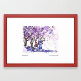 "Cathy Gatland, ""Jacaranda Shower"" Framed Art Print"