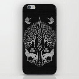 Gungnir - Spear of Odin and Tree of life  -Yggdrasil iPhone Skin