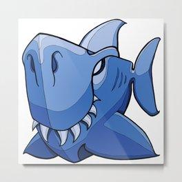 Shark - Little Boy Blue Metal Print