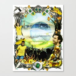 The World Cup 2014 - Brazilian Style Canvas Print