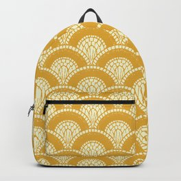 Yellow Wabi Sabi Wave II Backpack