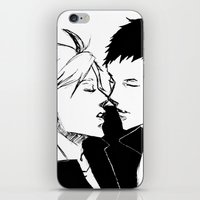 haikyuu iPhone & iPod Skins featuring Daisuga b&w Haikyuu!! by Pruoviare