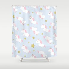 Unicorns in the Sky Shower Curtain