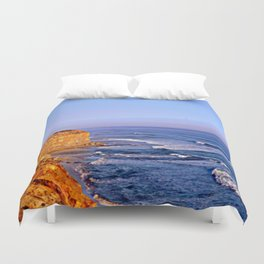 Sunset over the Great Southern Ocean Duvet Cover