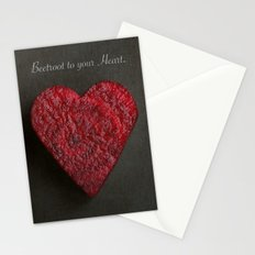 Beetroot to your Heart. Stationery Cards
