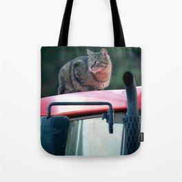 Tractor Cat Tote Bag