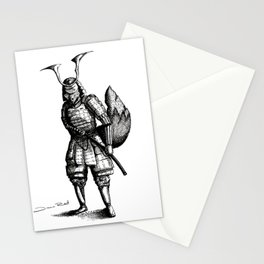 Samurai Fox Stationery Cards