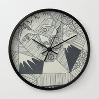 naked Wall Clocks featuring Naked by Annemiek Boonstra