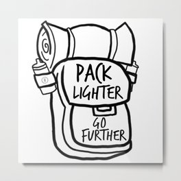 Pack Light Metal Print