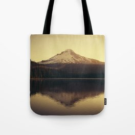 Sunrise at Trillium Lake - Oregon Adventure Tote Bag