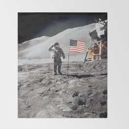 Apollo 15 - Military Salute Throw Blanket