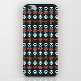 Skull Patern Rock Style iPhone Skin