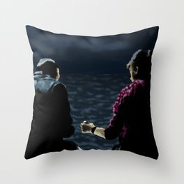 John and Rodney on the Pier Throw Pillow