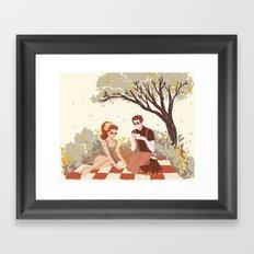 Hades & Persephone Picnic Framed Art Print
