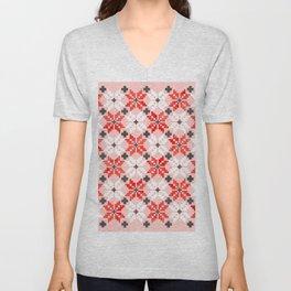 Christmas Quilt - pattern no2 Unisex V-Neck