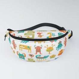 Colorful monster pattern Fanny Pack