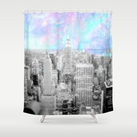 new york city Shower Curtains featuring New York City. by 2sweet4words Designs