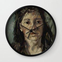 Head of a Prostitute Wall Clock