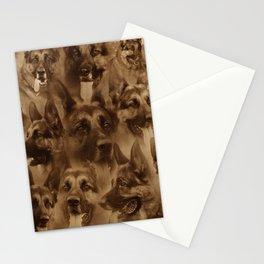 German Shepherd Dog collage Stationery Cards