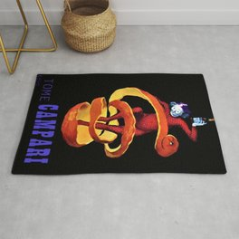 Vintage Purple Tome Bitter Campari Aperitif Advertisement Print Poster Rug