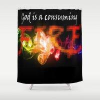 christian schloe Shower Curtains featuring Christian Art by Franz