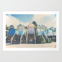 beach huts photograph Art Print