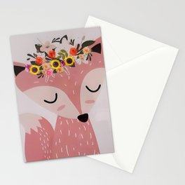 Easter Fox Stationery Cards