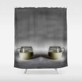 Still life with a cup of milk Shower Curtain