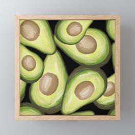 superfood avocados painting Framed Mini Art Print