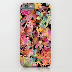 watercolor meadow black Slim Case iPhone 6s