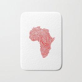 Black History Month Gift T Shirt Fingerprint Africa Bath Mat