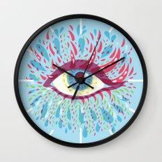 Weird Blue Psychedelic Eye Wall Clock