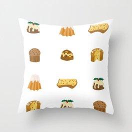 Christmas Cakes Throw Pillow