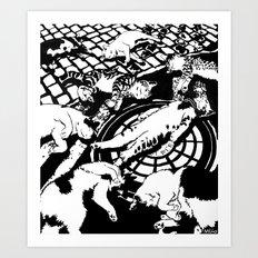 Copycat Suicide Art Print