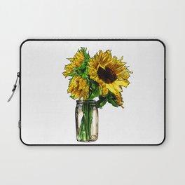 Sunflower In Mason Jar Laptop Sleeve