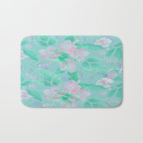 Soft Spring Floral Bath Mat