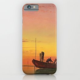 Last Catch of the Day at Sunset on the Lagoon, Venice by Edward William Cooke iPhone Case