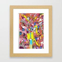 Mind mash up Framed Art Print