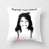 britney spears Throw Pillows featuring Britney Spears Baby Legend by franziskooo