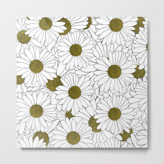 Daisy Yellow Metal Print