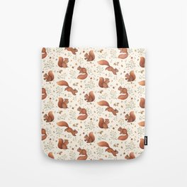 Furry Squirrel Tote Bag