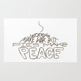 Pies Make Peace Rug
