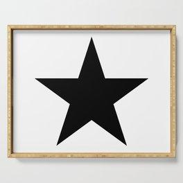 black star digital art logo image design zollione store Serving Tray