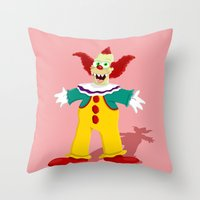 pennywise Throw Pillows featuring Krusty by Fransisqo82
