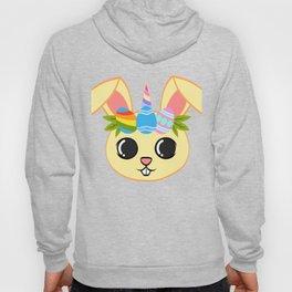 "A Cute Unicorn Tee Flower Crown""Bunny Unicorn"" T-shirt Design Easter Egg Crown Rabbit Pet Animals Hoody"