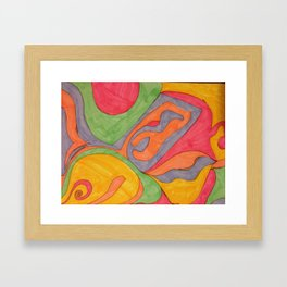 Creamy Sorbet Framed Art Print